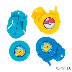 Pikachu & Friends Disc Shooters for Birthday - Party Supplies - Licensed Tableware - Misc Licensed Tableware - Birthday - 12 Pieces Incredibles Birthday Party, Birthday Party Games, 6th Birthday Parties, 8th Birthday, Birthday Party Decorations, Party Themes, Party Favors, Party Ideas, Birthday Cake
