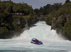 Jet boat to the base of New Zealand's MOST visited natural attraction - thespectacular Huka Falls! Hukafalls Jet in Taupo is the only jet boat company permitted to take you there!