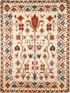PORIN TIENOOT 1825 ommellen 120 x 155 Textile Patterns, Textile Design, Quilt Patterns, Textiles, Rya Rug, Wool Rug, Animal Rug, Nordic Design, Tapestry Weaving