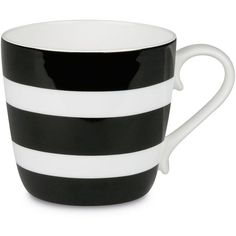 Konitz Colors Polka Stripes Bone China Mug (16 CAD) ❤ liked on Polyvore featuring home, kitchen & dining, drinkware, fillers, kitchen, home decor, drinks, striped mug, stripe mug and bone china