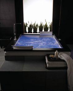 """Jacuzzi FUZ7260WCL4CWA Almond 72"""" x 60"""" Fuzion Drop In Luxury Whirlpool Bathtub with 15 Jets, Luxury Controls, Chromatherapy, Heater, Center..."""