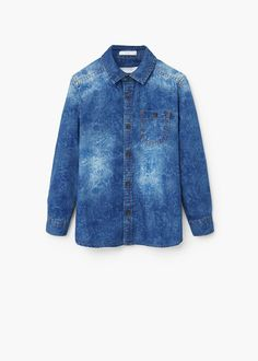 Camisa denim floral | MANGO KIDS
