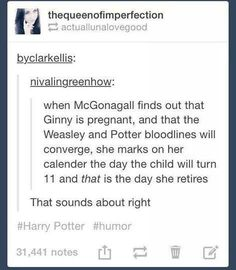 This thought, which was probably actually McGonagall's retirement plan. | 19 Really Funny Harry Potter Posts That You Maybe Haven't Seen Yet