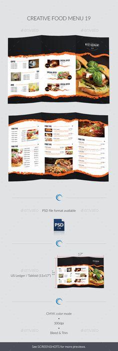 Food #Menu Pack - Food Menus Print Templates Download here https - a la carte menu template