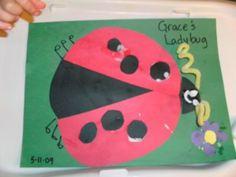 RED & CIRCLE Ladybug Craft