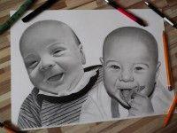 kreslený portrét detí  www.facebook.com/portrety.obrazy https://instagram.com/lubomir.franciak/ http://www.portrety-obrazy.sk/