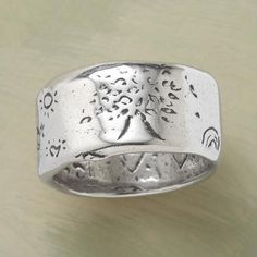 STERLING SILVER STRENGTH RING: View 1
