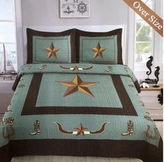 Western Comforter Sets, Queen Bedding Sets, Star Boots, Cozy Corner, Blanket Cover, Bed Spreads, Pillow Covers, Pillow Shams, Modern Design
