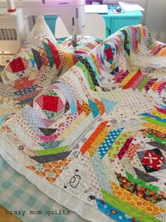 """Last Saturday night I started cutting out a new quilt! I can't remember the last time I made a stash quilt...usually it's """"all scraps, all the time"""" around here. (Which is fun, don't get me ..."""