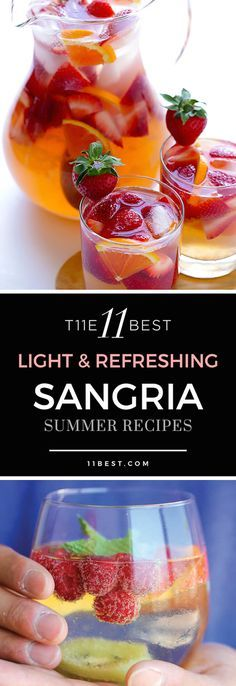 Angi : Try the Red Sangria!❤ The 11 Best Refreshing Sangria Summer Recipes Snacks Für Party, Party Drinks, Fun Drinks, Alcoholic Drinks, Beverages, Food And Drinks, Drinks Alcohol, Mixed Drinks, Best Sangria Recipe