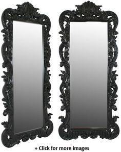 black floor mirror