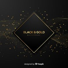 Black and gold background Free Vector Formal Party Themes, Abstract Backgrounds, Colorful Backgrounds, Perfume Logo, Iron Man Art, Gold Glitter Background, Business Cards Layout, Candle Branding, Abstract Paper