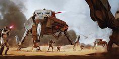 "spassundspiele: "" AT-AP - All Terrain Attack Pod – Star Wars concept by Wojtek Fus """