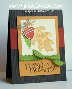 Julie's Stamping Spot -- Stampin' Up! Project Ideas Posted Daily: Stampin' Up! Wonderfall Birthday Card