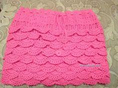 Вязаная крючком юбка для девочки - работа Оксаны Усмановой