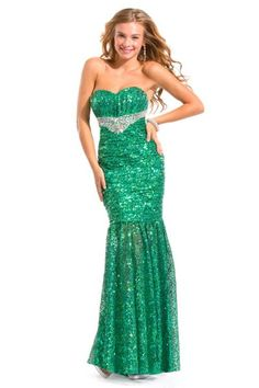 Party Time 6087 Allover Sequin Mermaid Gown image
