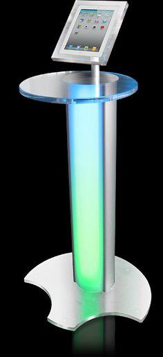 ipad lectern podium - design idea - no lights!