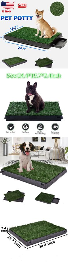 Lot 10 Washable Puppy Pet Potty Grass Liner Mat Crate Senior Dog Not Disposable