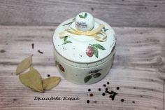 Купить Шкатулка круглая Оливки - разноцветный, шкатулка, Декупаж, состаренный стиль, шкатулка для украшений