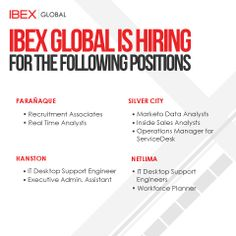 Ibex global recruitment urgently needs interns for our pasig and corporate hiring updates as of april 4 2014 we are hiring for stopboris Gallery