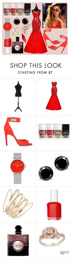"""red and fabulous"" by shavorn-vukas ❤ liked on Polyvore featuring Piaget, Givenchy, Nails Inc., Nomos, Thalia Sodi, Essie, Yves Saint Laurent and Disney"