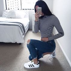Awesome Casual Outfits It is important for you to The officer This Week. Get encouraged using these. School Outfits, Outfits For Teens, Trendy Outfits, Winter Outfits, Cute Outfits, Look Fashion, Teen Fashion, Autumn Fashion, Fashion Outfits