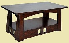 Fair Oak Workshops - Contemporary Arts & Crafts Furnishings and Accessories [Brett Johnson Craftsmen]  Pagoda coffee table
