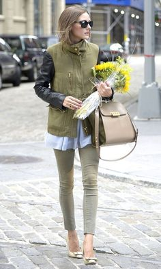 THE OLIVIA PALERMO LOOKBOOK..army green