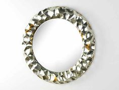 Espejo circular en plata