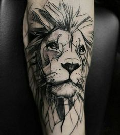 Tattoo Lion: Symbolism and attractive designs of the lion tattoo for both sexes – Tattoo Designs Wolf Tattoos, Animal Tattoos, Body Art Tattoos, Tatoos, Tatuajes Tattoos, Elephant Tattoos, Trendy Tattoos, Small Tattoos, Tattoos For Guys