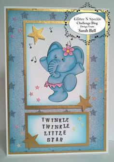 Glitter 'N' Sparkle Say it with Music Challenge DT Card by Sarah Bell