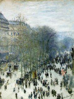 The Boulevard Des Capucines - By Claude Monet -1873.