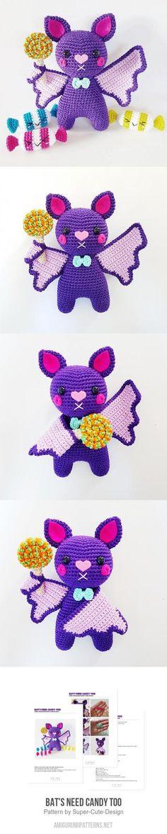 Bat's Need Candy Too amigurumi pattern
