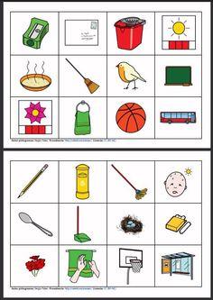 MATERIALES - Parejas lógicas.    Fichas para asociar cada dibujo con su pareja (Ej.- carta - buzón).    http://arasaac.org/materiales.php?id_material=13