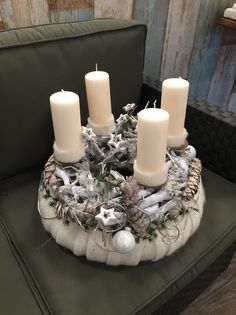 Adventskranz - Adventskranz - ein Designerstück von Flora66 bei DaWanda