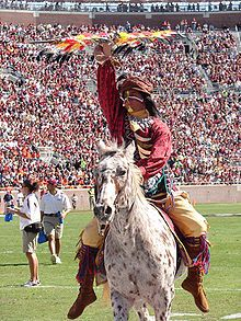 FSU! Renegade and Chief Osceola!  The history behind being able to be Chief Osceola is unreal!  Training for 2 years!