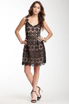 Lace Silk Dress