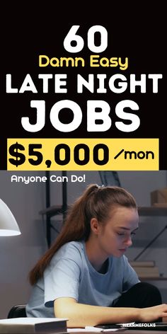 Late Night work at home jobs. Looking to take up 'late-night online jobs' or 'part-time evening jobs' that pay cash? Check out these 60 part-time late night jobs from home or late night online jobs to make money from home. Jobs From Home Legit, Legitimate Work From Home, Get Money Now, Way To Make Money, Extra Money Jobs, Night Jobs, No Experience Jobs, Work Opportunities, Job Work