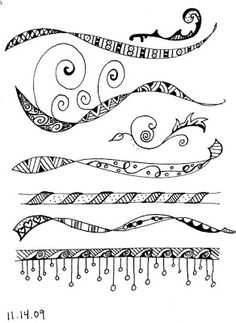 paperwhitestudio: Life is getting in the way! More zentangle border ideas.