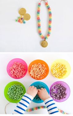 Lucky Rainbow Necklace | DIY St Patricks Day Crafts for Kids to Make | DIY St Patricks Day Crafts for Toddlers to Make