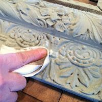 DIY:  Create A Dimensional, Antiqued Finish Using Paint & Wax - very easy tutorial that shows each step.