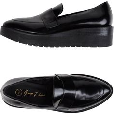 George J. Love Moccasins (£96) ❤ liked on Polyvore featuring shoes, loafers, black, leather moccasins, leather moccasin shoes, black moccasin shoes, loafers moccasins and leather shoes