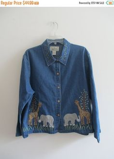 Check out this item in my Etsy shop https://www.etsy.com/listing/244447894/vintage-tan-trums-blue-denim-jean-animal