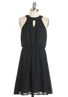 City Sway Dress. When youre donning this black dress, youll want to dance your way to each celebration! #black #modcloth