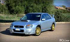 "When elegance meets efficiency. Subaru Impreza with SanremoCorse 7.5x17"", PCD 5x100, ET 48   EVO Corse Racing Wheels #evocorse #evocorsewheels #wheels #subaru #subaruimpreza #lifeisawheel #madeinitaly #followus"