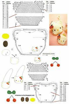 Risultati immagini per gorras a crochet con patrones Crochet Diagram, Crochet Chart, Love Crochet, Crochet Motif, Crochet Stitches, Crochet Patterns, Crochet Coin Purse, Crochet Pouch, Crochet Purses