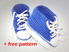 Crochet patterns (PDF) - Baby Boy Booties - Pattern  number 12 (+ free pattern)