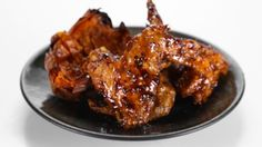 Akilah's Roasted Honey Ginger BBQ Wings with Twice Baked Yams