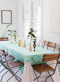 The boho mint and blue baby shower incorporated all the mama's favorite things and looked ultra pretty
