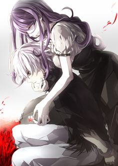 Tokyo Ghoul Characters, left to right: Kaneki and Rize.